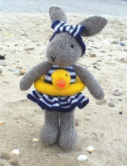 Bunty Bunny Goes Swimming Knitting Pattern PDF