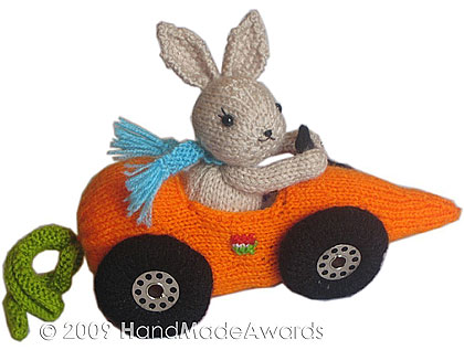Fittipaldi Car Carrot Knitting Pattern PDF