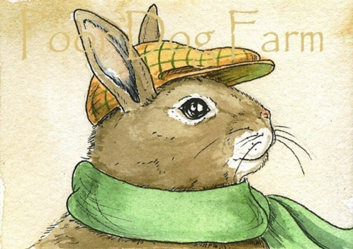 Rabbit in Hat print
