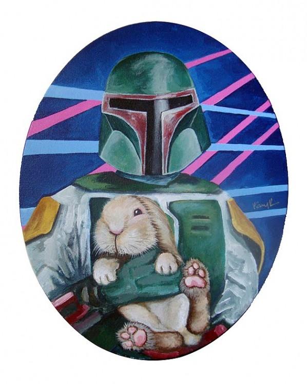 Boba Fett with bunny