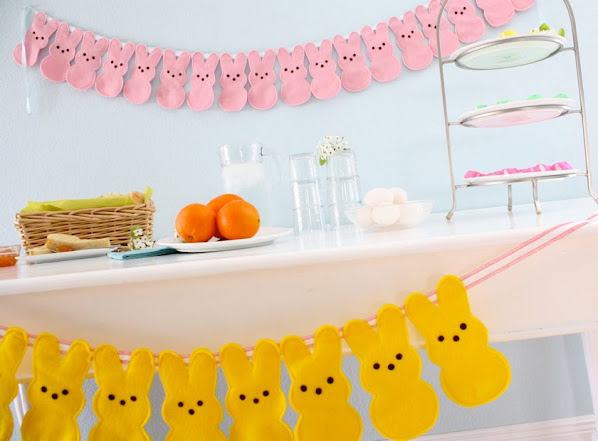 Felt Peep Bunny Bunting by V and Co. / MADE