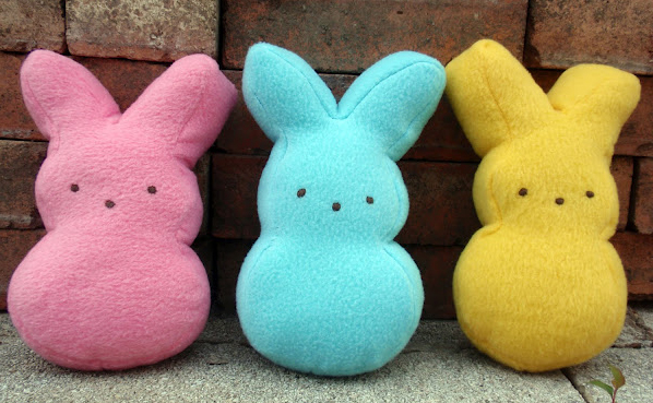Marshmallow Bunny Plushies by Dandelion and Lace