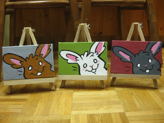 Custom bunny portrait