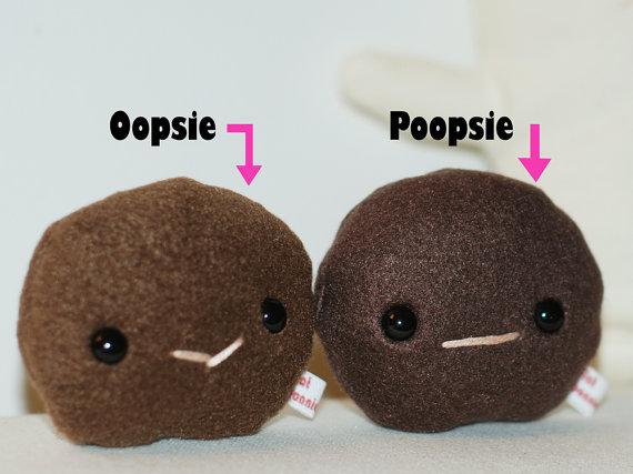 Oopsie and Poopsie plush toys