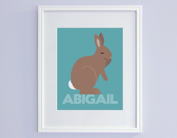 Personalized bunny print