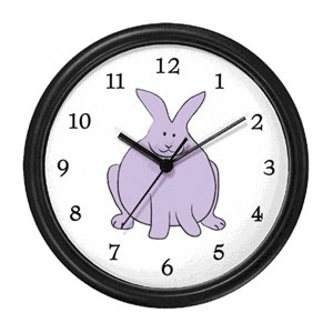 Cute Big Bunny Wall Clock
