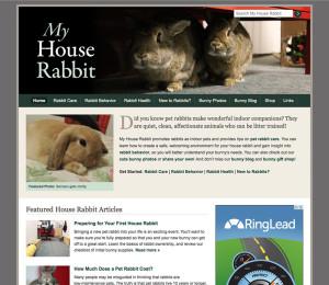 My House Rabbit Website Screenshot