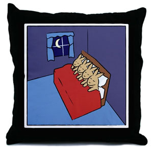 Sleeping Bunnies Throw Pillow