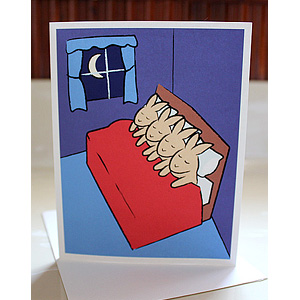 Sleeping Bunnies Greeting Cards