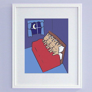 Sleeping Bunnies Print