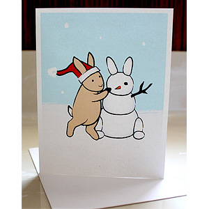 Snow Bunny Greeting Cards