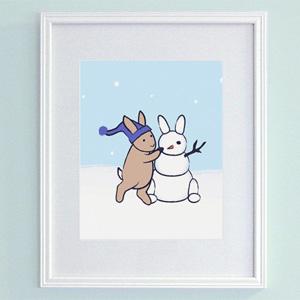 Snow Bunny Print